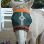 Green Aztec Dazzle Me Fly Mask Colorful Equine