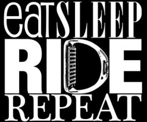For the Love of Endurance Riding Black and White Logo for Eat Ride Repeat