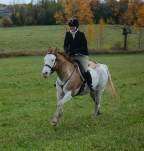 For the Love of Endurance Riding Ashley on Splash hunting