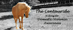 The Centauride: Riding for DV Awareness banner